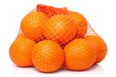 Oranges dans le réseau Images stock