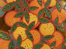 Oranges de papier Images libres de droits