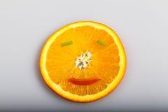 Oranges de sourire Images libres de droits