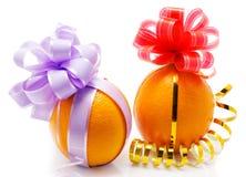 Oranges drôles Image libre de droits