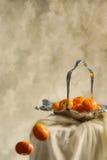 Oranges en baisse Images stock