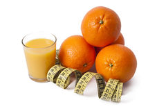 Oranges et bande fraîches Photographie stock