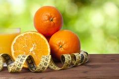 Oranges et bande fraîches Image libre de droits