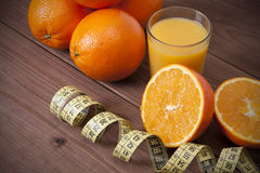 Oranges et bande fraîches Image stock