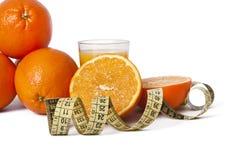 Oranges et bande fraîches Photographie stock libre de droits