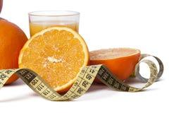 Oranges et bande fraîches Photo stock