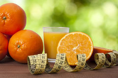Oranges et bande fraîches Photo libre de droits