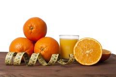 Oranges et bande fraîches Images stock