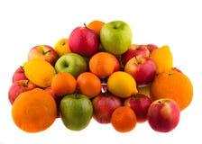Oranges et pommes de citrons, rouges et vertes Image libre de droits