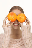 Oranges for eyes Stock Images