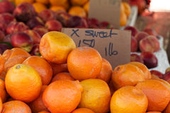 Oranges at the farmer's market Stock Photography
