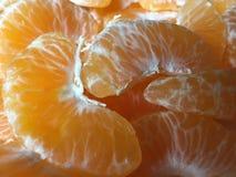 Oranges fraîchement épluchées Photos stock