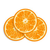 Oranges fraîches d'isolement sur le fond blanc illustration stock