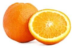 Oranges fraîches sur le blanc Image stock