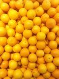 Oranges fraîches sur le marché Photographie stock libre de droits
