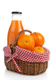 Oranges and fresh juice Stock Photography