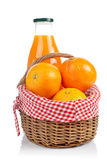 Oranges and fresh juice Royalty Free Stock Photo