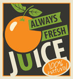 Oranges and always fresh juices Stock Photography