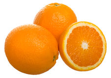Oranges fruit. Isolated on white Royalty Free Stock Photos