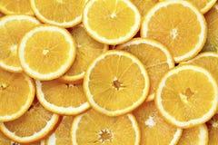 Oranges Fruit Background. Oranges Slices. Healthy Foo. D.Top view stock photo