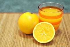 Oranges fruit juice Royalty Free Stock Images