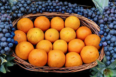 Oranges at fruit market Royalty Free Stock Image