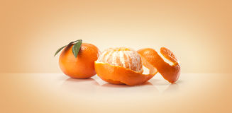 Oranges fruit and orange wedge Stock Images