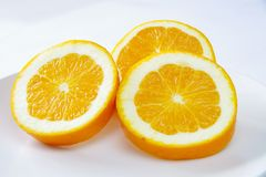 Oranges. This is a fruit rich in vitamins royalty free stock image