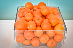 Oranges in a glass Royalty Free Stock Photos
