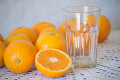 Oranges and Glass royalty free stock images