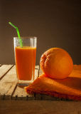 Grapefruit juice orange fruit healthy wooden royalty free stock photography