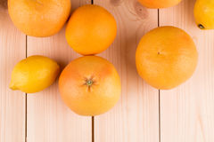 Oranges and grapefruits Stock Image