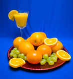 Oranges and Grapes Stock Photo
