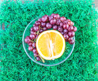 Oranges and grapes Royalty Free Stock Photo