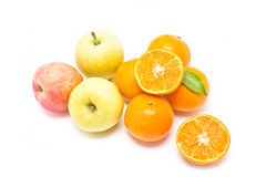 Oranges, green and red apples collection. Stock Photography