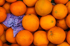 Oranges On Greengrocer Royalty Free Stock Image