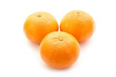 Oranges. Group of oranges  on white background Royalty Free Stock Images