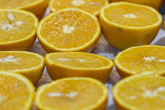 Oranges. Half oranges to be squeezed Stock Images