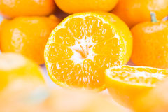 Oranges. And half two Stock Photography