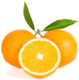 Oranges, half and whole Royalty Free Stock Photos