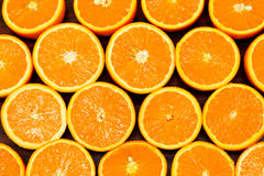 Oranges halves Stock Photography
