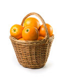 Oranges In Basket Royalty Free Stock Images