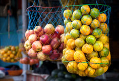 Oranges at Indian market Royalty Free Stock Photography