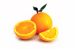 Oranges isoated on white background Stock Photos