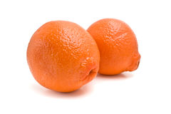 Oranges isolated Stock Photography