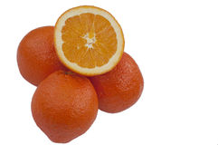 Oranges isolated Royalty Free Stock Images