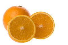 Oranges Isolated. Isolated image of oranges against a completely white background royalty free stock image