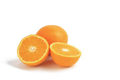 Oranges isolated. On a white background Royalty Free Stock Photo