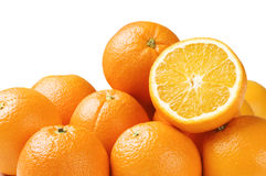 Oranges isolated Stock Images