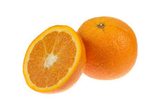 Oranges isolated on white Royalty Free Stock Photo